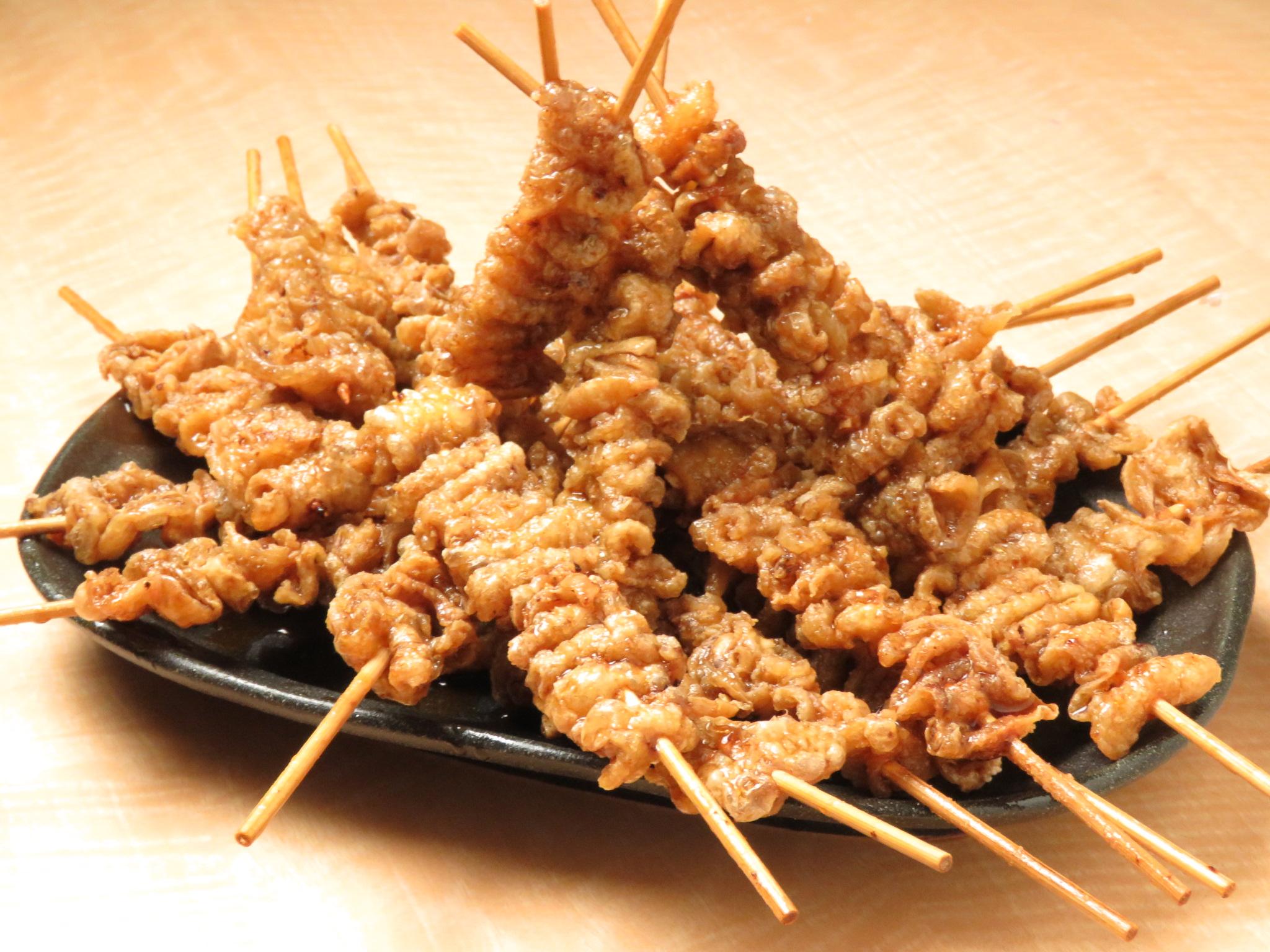 志木の鶏料理専門店[とりいちず]の絶品とり皮